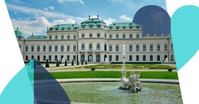Europäische Republik: Sie soll auf historischen Balkonen ausgerufen werden. Belvedere in Wien, Sicht aus Richtung des Springbrunnens.