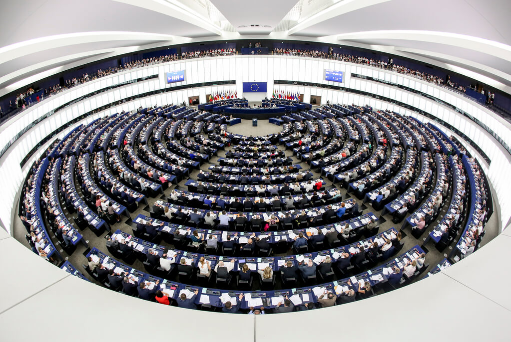 Plenarsaal des EU-Parlaments in Straßburg