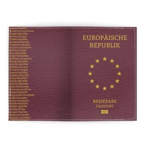 Europäische Republik Passport Cover außen