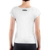 Die Rückseite des EU T-Shirt Matala von I love EU ist weiß, im Bereich des Nackens befindet sich ein kleines schwarzes I love EU Logo.