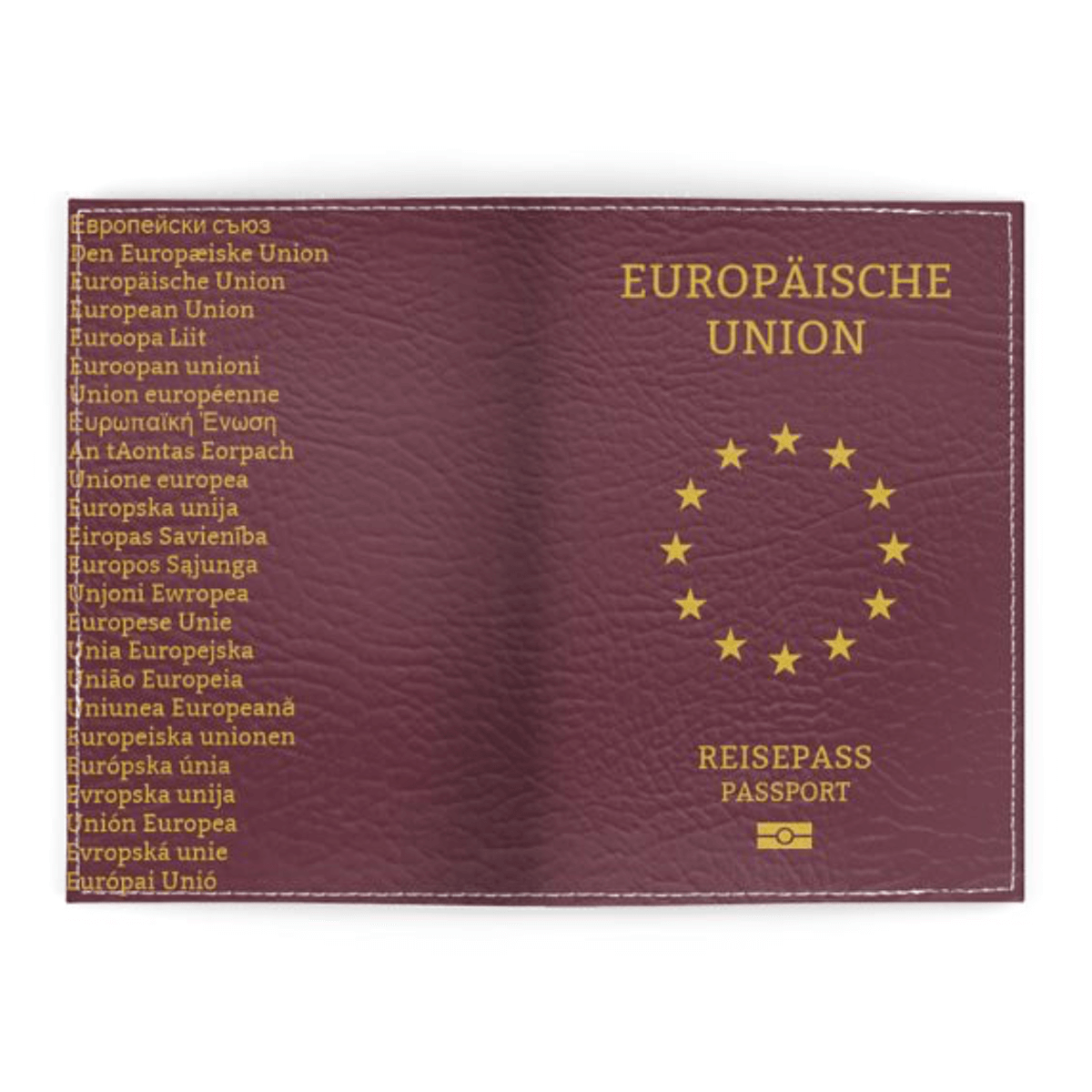 Europaische Union Passport Cover