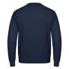 Die Rückseite des I love EU Pullover Bruxelles hat keinen Print. Sie ist leer. Der Pullover ist dunkelblau.