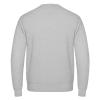 Die Rückseite des I love EU Pullover Bruxelles hat keinen Print. Sie ist leer. Der Pullover ist Hellgrau.